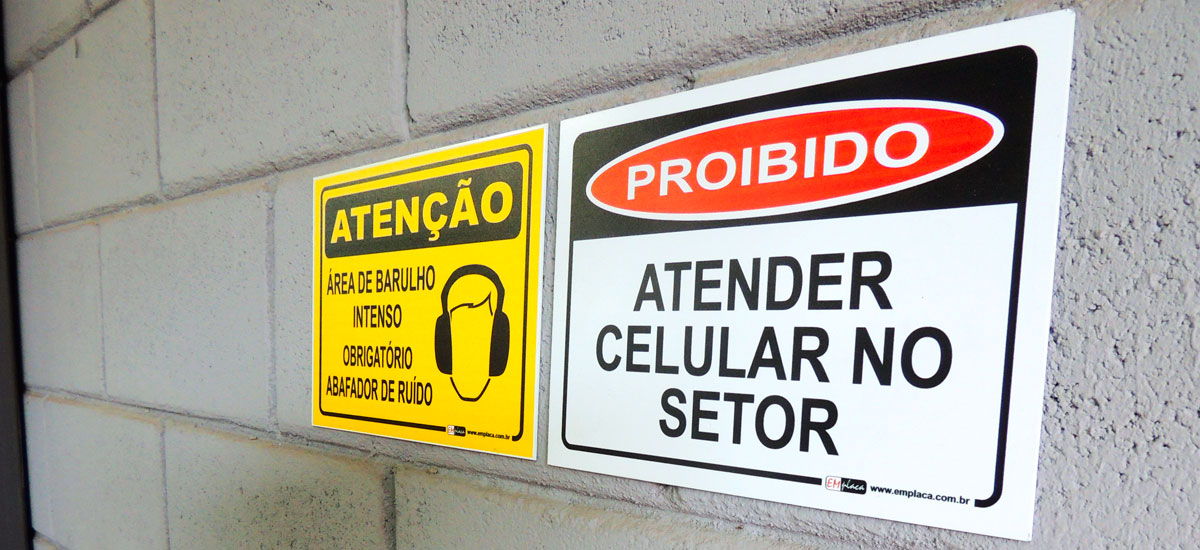 Placas de Sinalização de Segurança do Trabalho - Emplaca Automação e ... f6f769eae2
